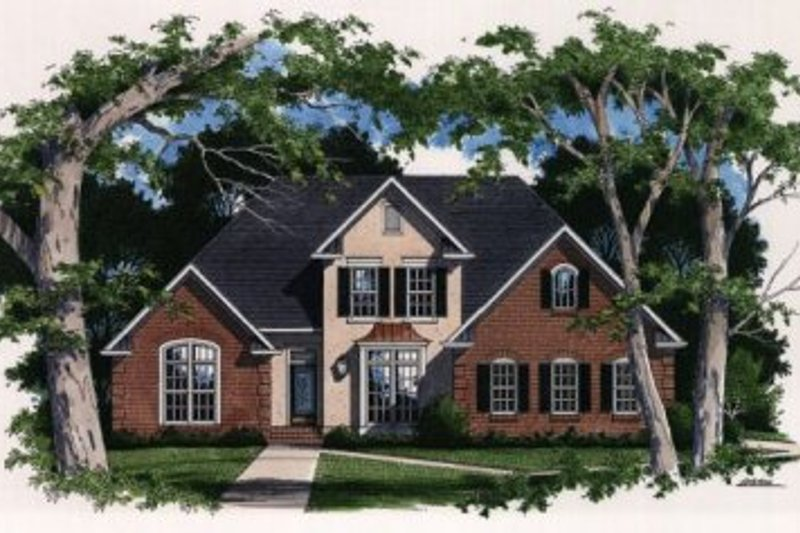 Traditional Exterior - Front Elevation Plan #41-150 - Houseplans.com