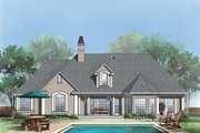Ranch Style House Plan - 3 Beds 2 Baths 1781 Sq/Ft Plan #929-371 Exterior - Rear Elevation