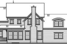 Victorian Exterior - Rear Elevation Plan #23-835