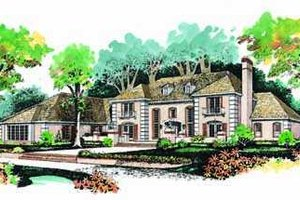 Home Plan - European Exterior - Front Elevation Plan #72-194