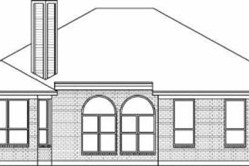 Traditional Exterior - Rear Elevation Plan #84-124 - Houseplans.com