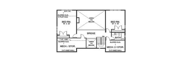 Contemporary Floor Plan - Upper Floor Plan Plan #1042-15
