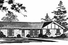 Dream House Plan - Ranch Exterior - Front Elevation Plan #36-357