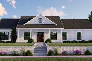 House Plan Design - Farmhouse Exterior - Front Elevation Plan #1064-98