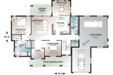 Traditional Floor Plan - Main Floor Plan Plan #23-831