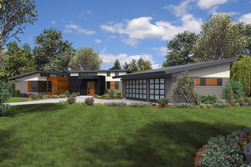 House Plan Design - Contemporary Exterior - Front Elevation Plan #48-1014