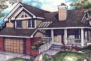 Traditional Style House Plan - 3 Beds 2.5 Baths 1847 Sq/Ft Plan #320-296 Exterior - Front Elevation