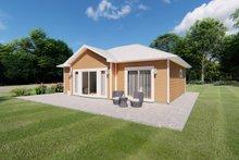 House Plan Design - Cottage Exterior - Rear Elevation Plan #126-222