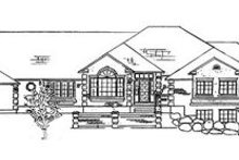 Architectural House Design - European Exterior - Front Elevation Plan #5-177