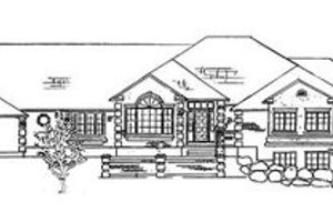 European Exterior - Front Elevation Plan #5-177