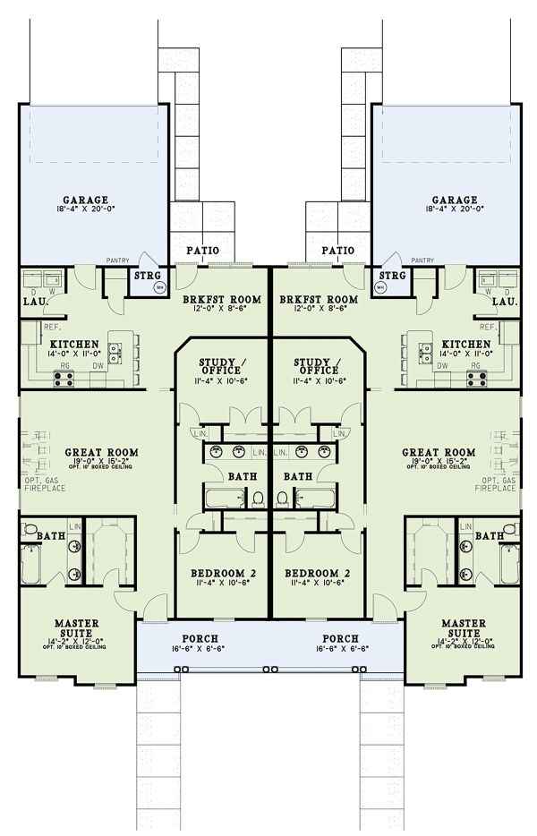 Home Plan - Country Floor Plan - Main Floor Plan #17-3159