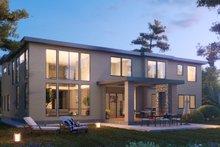 Dream House Plan - Contemporary Exterior - Rear Elevation Plan #1066-104