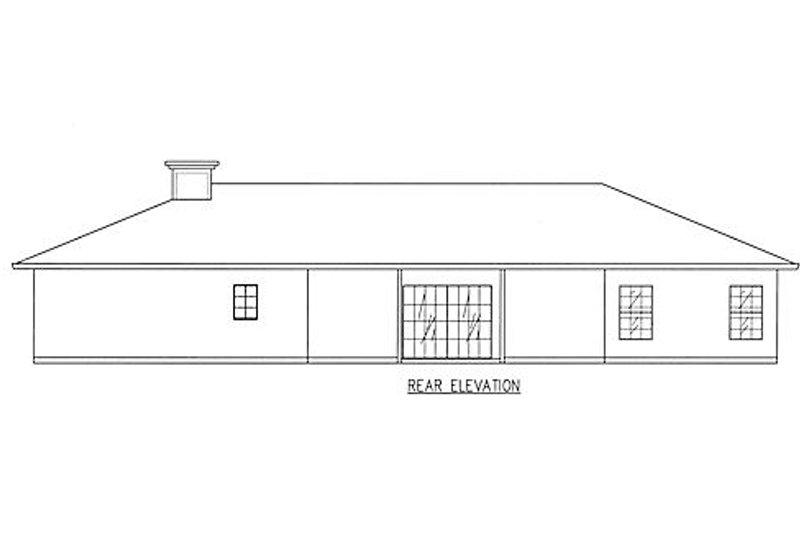 Traditional Exterior - Rear Elevation Plan #437-15 - Houseplans.com