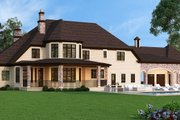 European Style House Plan - 4 Beds 4.5 Baths 3302 Sq/Ft Plan #119-432 Exterior - Rear Elevation