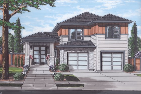 Contemporary Exterior - Front Elevation Plan #46-893