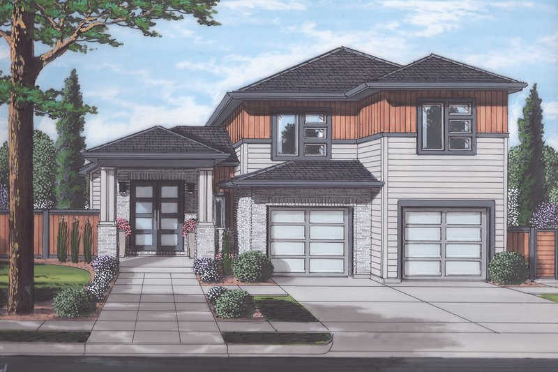 Architectural House Design - Contemporary Exterior - Front Elevation Plan #46-893