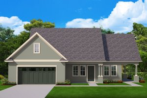 Ranch Exterior - Front Elevation Plan #1058-179