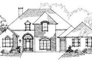 European Style House Plan - 4 Beds 2.5 Baths 3080 Sq/Ft Plan #325-104 Exterior - Front Elevation