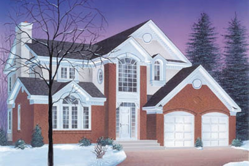 Traditional Exterior - Front Elevation Plan #23-243 - Houseplans.com