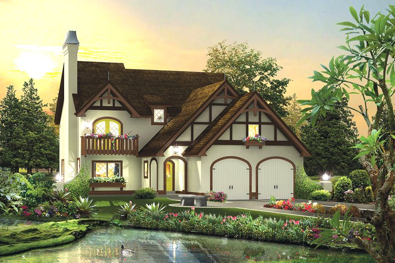 House Plan Design - European Exterior - Front Elevation Plan #57-694