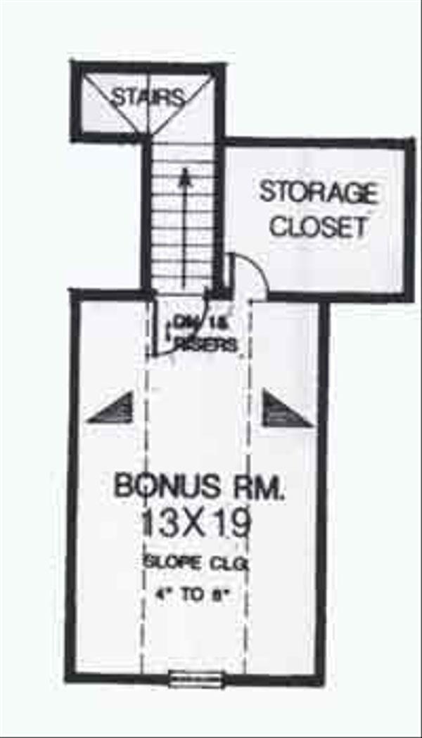Colonial Floor Plan - Upper Floor Plan #310-802