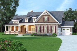Country Exterior - Front Elevation Plan #419-267