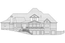 House Plan Design - Traditional Exterior - Rear Elevation Plan #1054-31