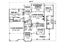 Farmhouse Floor Plan - Main Floor Plan Plan #513-2046