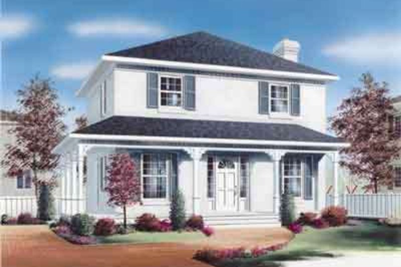 Colonial Style House Plan - 3 Beds 2 Baths 1560 Sq/Ft Plan #23-267