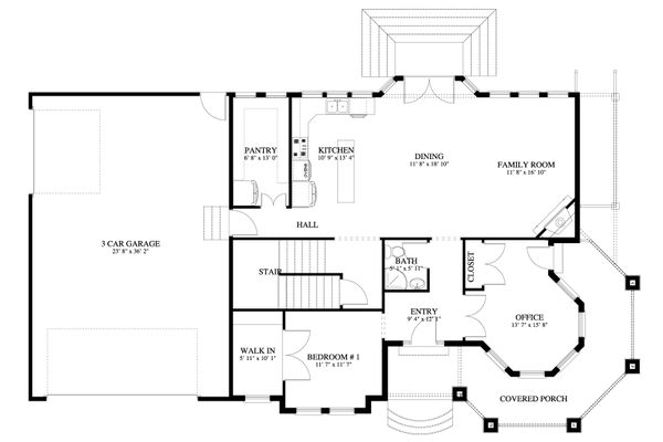 Victorian Floor Plan - Main Floor Plan Plan #1060-51