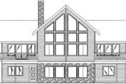 Contemporary Style House Plan - 4 Beds 3 Baths 3369 Sq/Ft Plan #117-269 Exterior - Rear Elevation