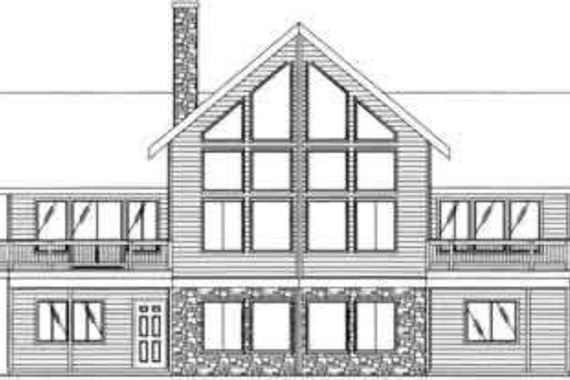 Contemporary Exterior - Rear Elevation Plan #117-269 - Houseplans.com