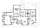 Colonial Style House Plan - 4 Beds 4.5 Baths 4352 Sq/Ft Plan #20-2442 Floor Plan - Upper Floor