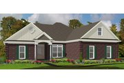 Traditional Style House Plan - 3 Beds 3 Baths 1938 Sq/Ft Plan #63-301 Exterior - Front Elevation