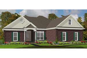 Traditional Exterior - Front Elevation Plan #63-301