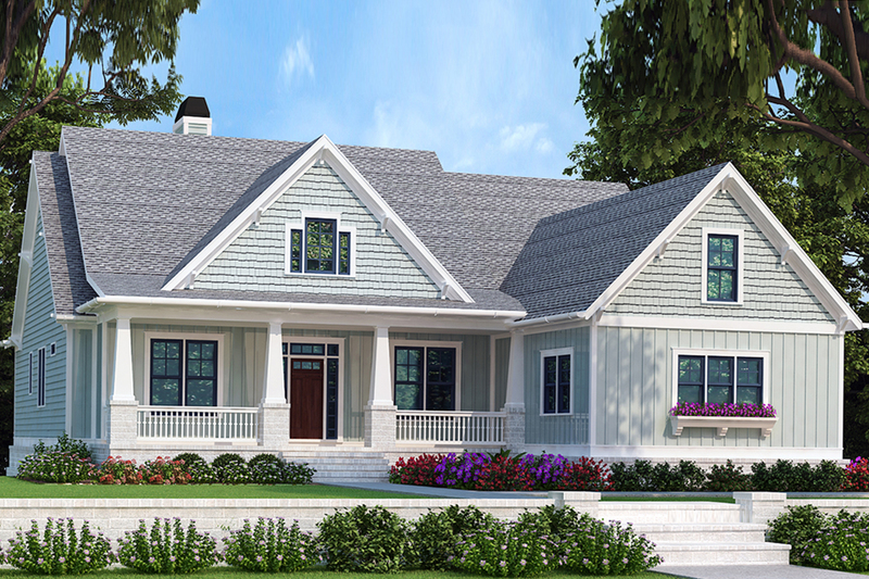 Bungalow Exterior - Front Elevation Plan #927-418