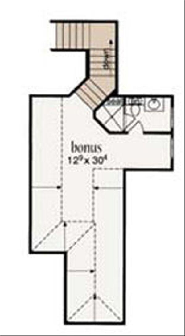 European Floor Plan - Upper Floor Plan Plan #36-468
