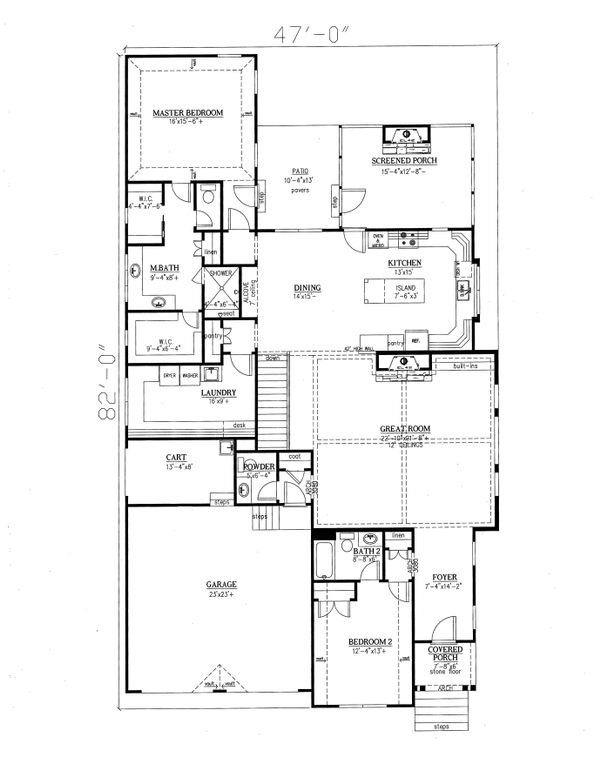 Ranch Floor Plan - Main Floor Plan Plan #437-89