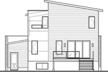 Architectural House Design - Modern Exterior - Rear Elevation Plan #23-2700