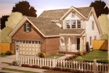House Design - Cottage Exterior - Front Elevation Plan #513-11