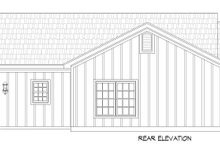 Architectural House Design - Country Exterior - Rear Elevation Plan #932-370