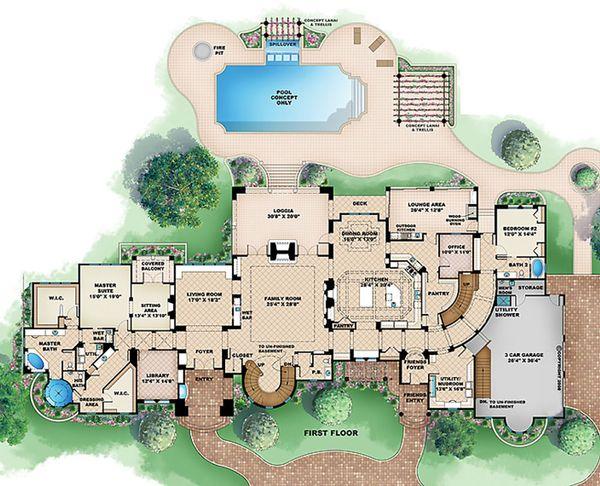 European Floor Plan - Main Floor Plan #27-564
