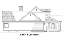 House Plan Design - Left view of 1800 square foot Traditional home