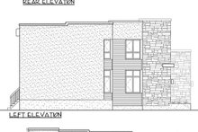 Home Plan - Modern Exterior - Rear Elevation Plan #25-4415