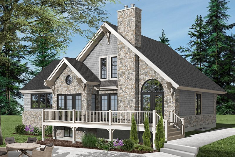 Home Plan - Country Exterior - Rear Elevation Plan #23-2562