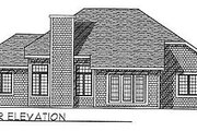 Traditional Style House Plan - 3 Beds 2 Baths 1756 Sq/Ft Plan #70-190 Exterior - Rear Elevation