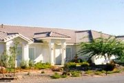Adobe / Southwestern Style House Plan - 4 Beds 2.5 Baths 2583 Sq/Ft Plan #1-620 Exterior - Front Elevation