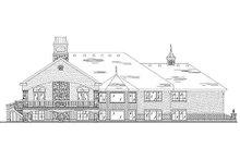 House Plan Design - European Exterior - Rear Elevation Plan #5-288