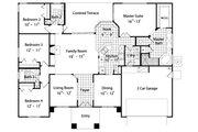 Mediterranean Style House Plan - 4 Beds 3 Baths 2089 Sq/Ft Plan #417-191 Floor Plan - Main Floor Plan
