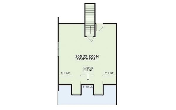 Country Floor Plan - Upper Floor Plan Plan #17-1101